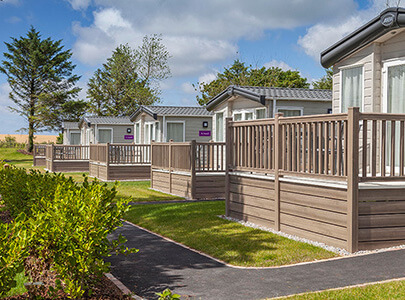 AB Sundecks Picket Panels on raised Decking on a number of Holiday Homes