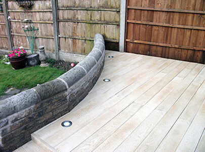 AB Sundecks Decking with built in lighting